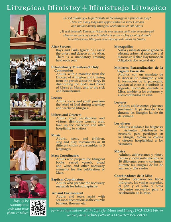 Volunteer Opportunities - All Saints Catholic Church