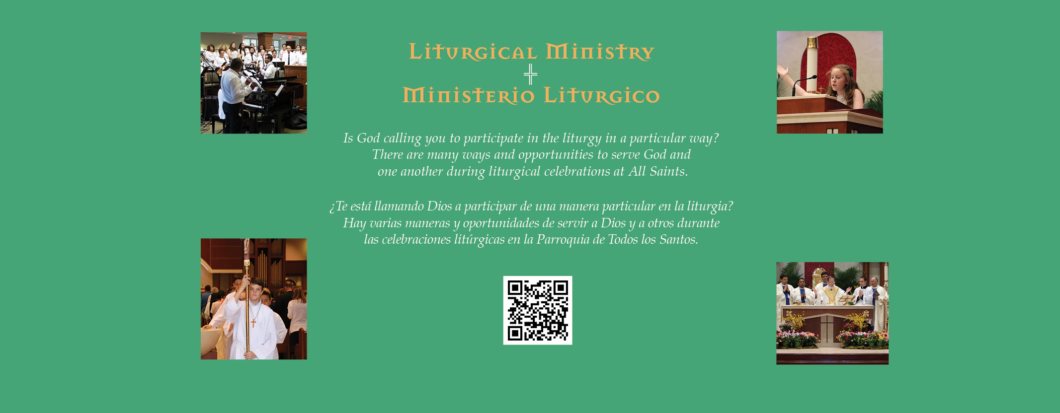 Get involved in All Saints' Liturgical Ministry