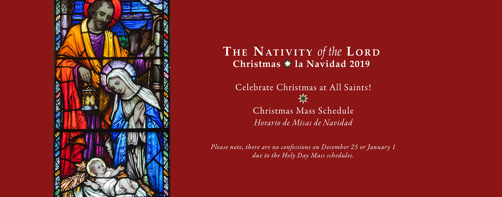 Christmas Mass Schedule - All Saints Catholic Church - Manassas, VA