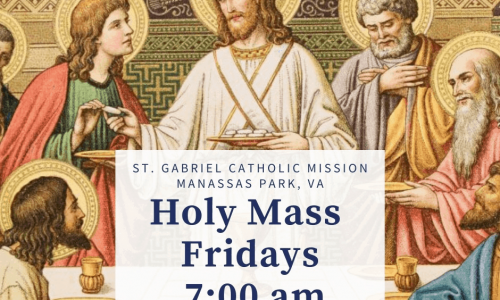 Join St. Gabriel Mission for Friday Mass Online