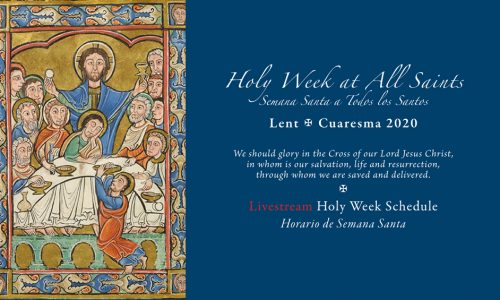 Holy Week – Livestreaming Schedule