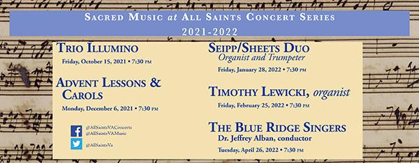 All Saints Concert Series: 2021-2022